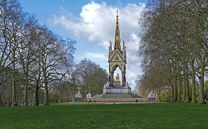 Visting a park in London
