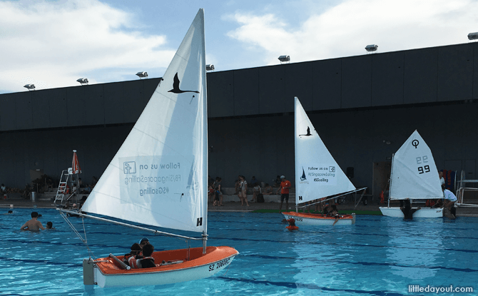 Sailboats at the Training Pool, Our Tampines Hub