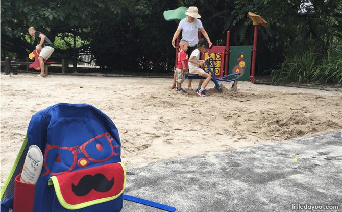 Sand pit at Jacob Ballas Children's Garden