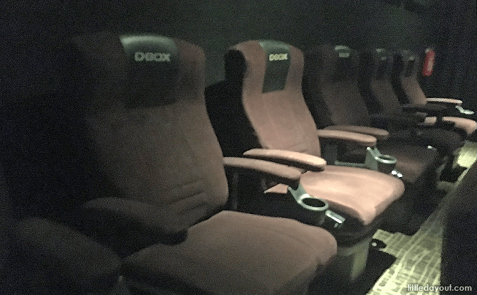 D-BOX seats at Golden Village Bishan, Singapore