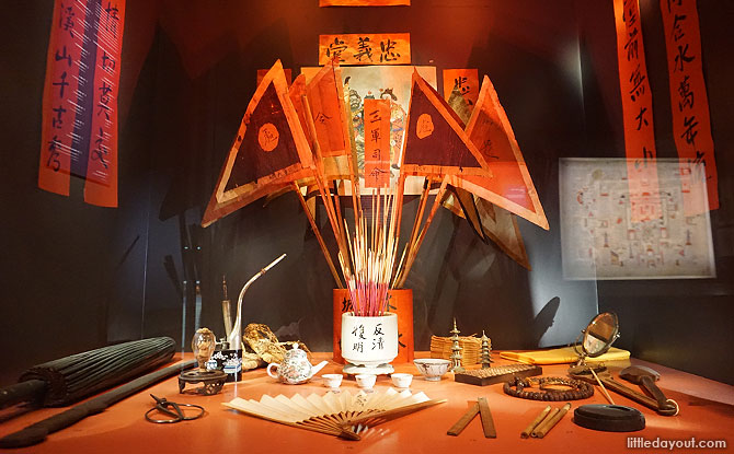 Artefacts from the William G. Stirling Collection on display at the National Museum of Singapore