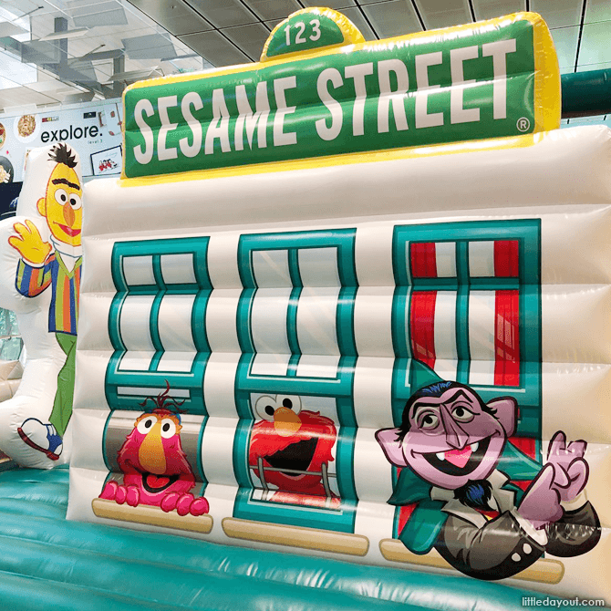Sesame Street Inflatable Playground, Changi Airport Terminal 3, March School Holidays 2018