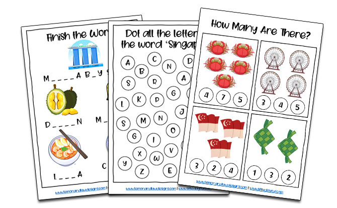 Free Singapore-Themed Activity Book For Kids: Do-The-Dot, Word Search & More