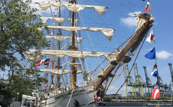 Mexican navy's sailing ship, ARM Cuauhtémoc