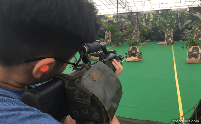Shoot at targets downrange