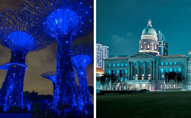 #SeeItBlue: Singapore Landmarks Turn Blue Every Thursday, 8 pm In May 2020