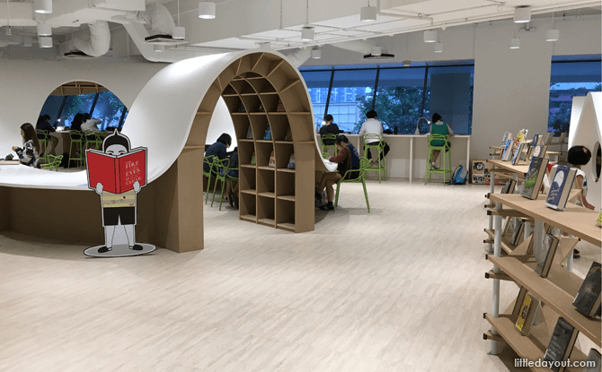 Reading areas at Bedok Public Library