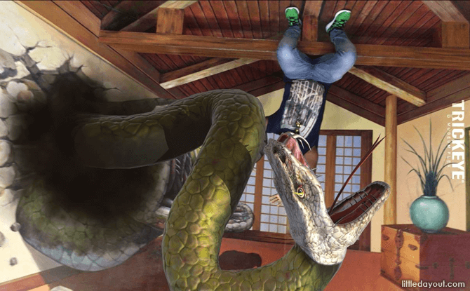 AR Snake, Trick Eye Museum Augmented Reality Experience