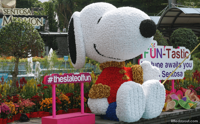 Snoopy at Sentosa for CNY 2018