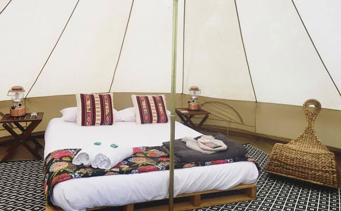 Glamping with Soul Camping tent