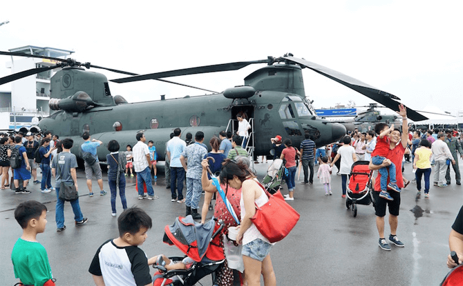 Static Displays at Singapore Airshow