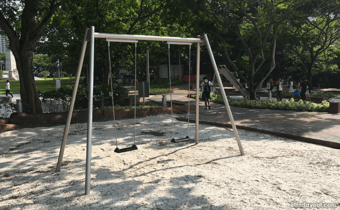 Swings at Esplanade Park