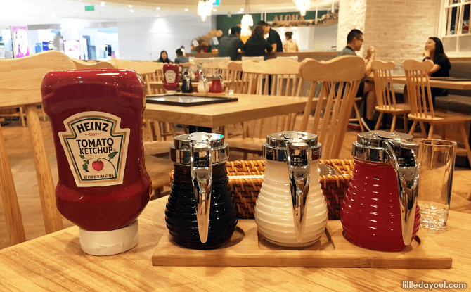 Syrups at Eggs n Things Singapore