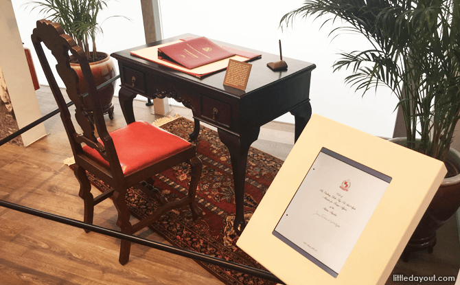 Writing Desk on display at Istana Heritage Gallery