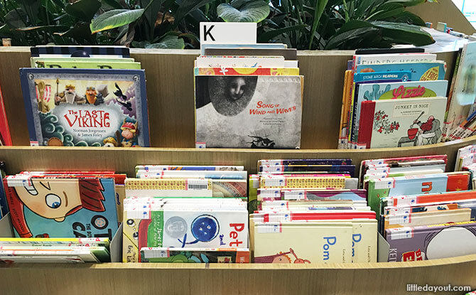 Front-facing Books at the early literacy spaces and libraries for young children in Singapore