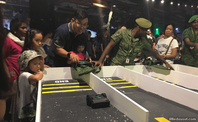 Try navigating a remote controlled vehicle around a course