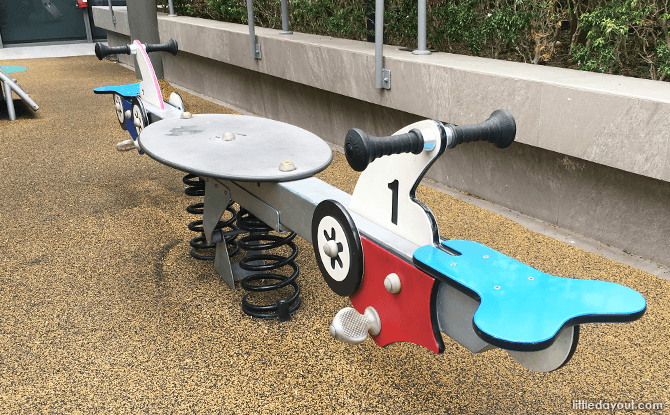Teeter-totters at The Seletar Mall Playground