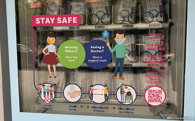 Where To Collect Temasek Foundation's Free Masks From Vending Machines From 21 September To 4 October 2020
