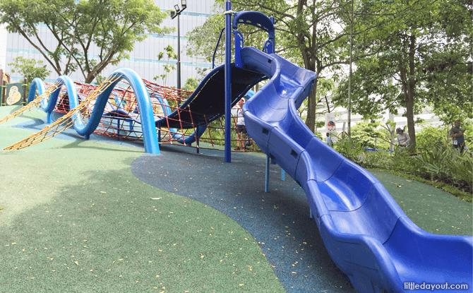 Slides at Admiralty Park Playground