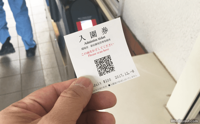 Scan the ticket to enter the park