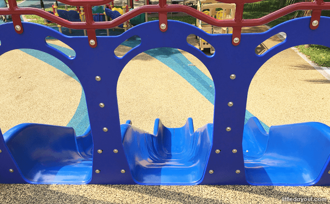 Slides at Toddler Play Area