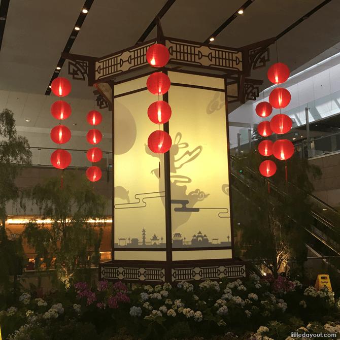 Lantern display at Terminal 2, Changi Airport, 2017