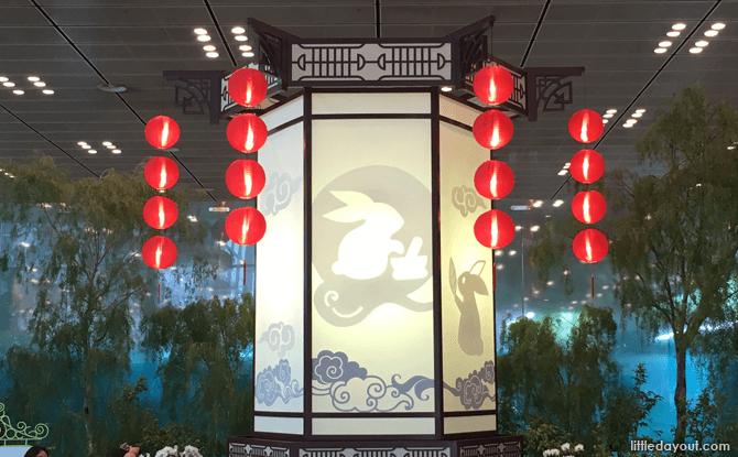 Display of traditional lantern at Changi Airport