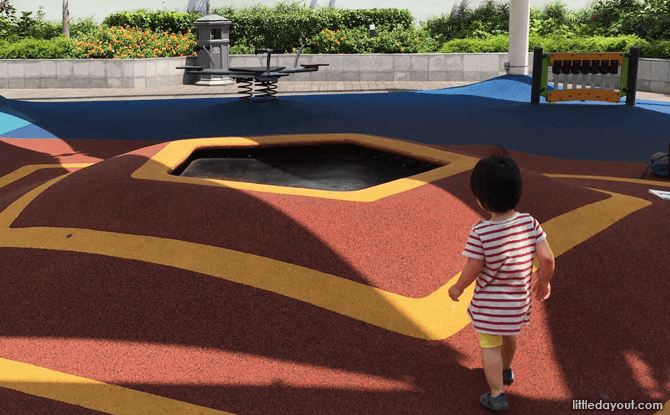 Trampoline at Tiong Bahru Plaza Playground