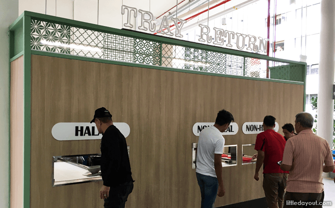 Tray Return at Yishun Park Hawker Centre