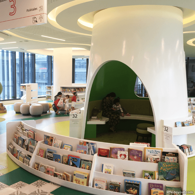 Reading corners at Tampines Regional Library