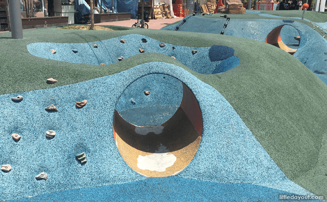 Entering the bunker area at the J Link Children's Playground