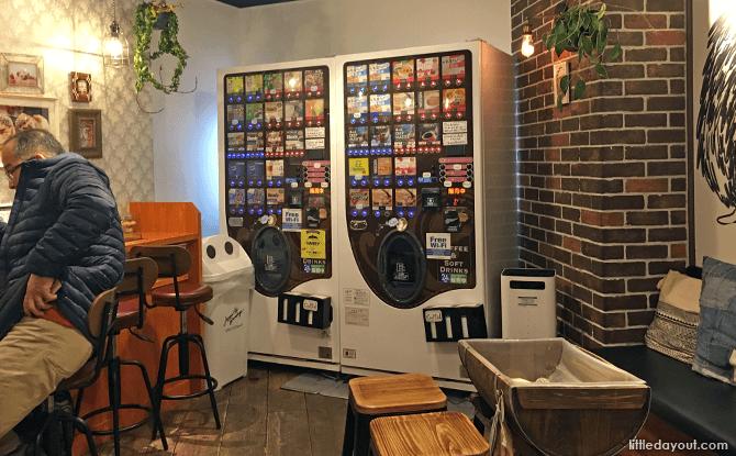 Vending Machine at Hedgehog Cafe, Tokyo