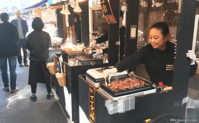Tsukiji Fish Market Food Stall Vendor
