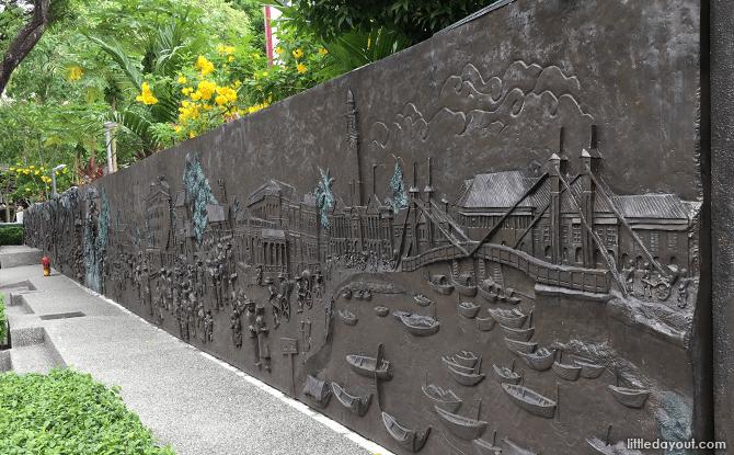 Wall mural at Sun Yat Sen Nanyang Memorial Hall recounts Singapore's journey