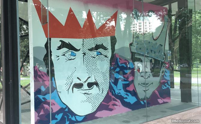 Wall Mural by Niklas Bo Beckert and Dennis Kaun at Bedok Reservoir Park