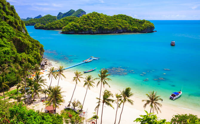 Angthong National Marine Park, Koh Samui, Suratthani, Thailand - Beach getaways from Singapore