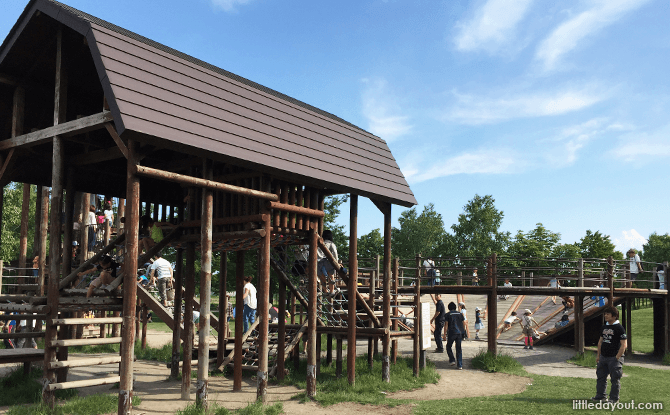 Wooden playground at Satoland