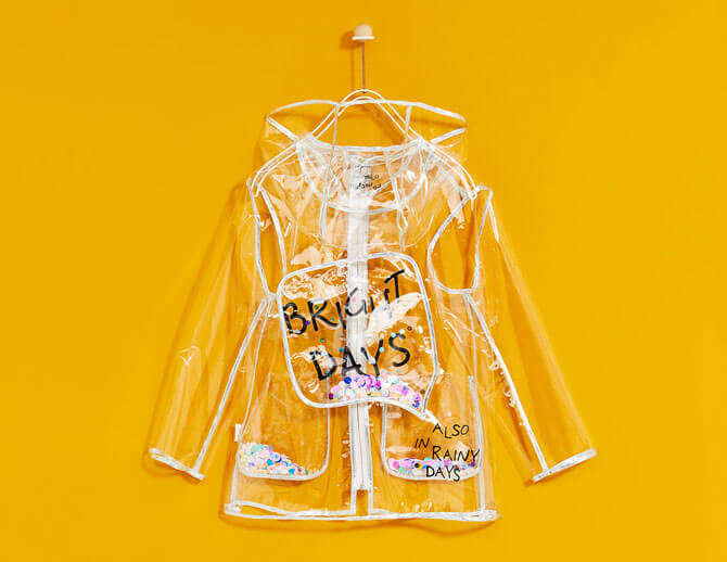 Transparent Raincoat with Sequins