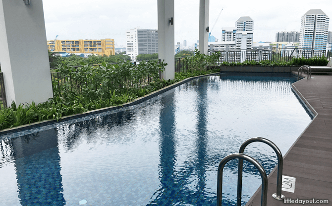 Pool on the 7th floor is for the exclusive use of Oasia Residence's guests.