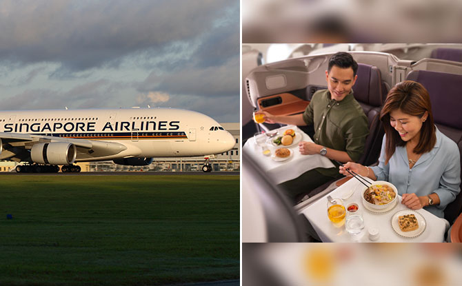 Restaurant A380 @ Changi: Dine On SIA Plane At Changi Airport