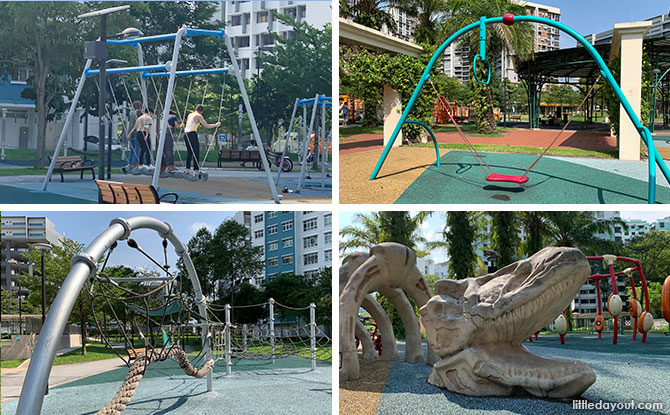 Canberra Park: Ultimate Swing Playground, Dino Bones & Rope Course