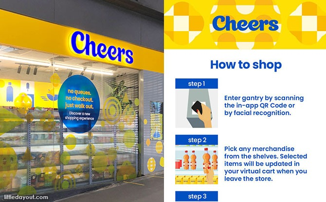 Automated Cheers' Store At Our Tampines Hub: Shopping With An App