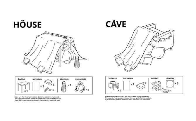 IKEA Shares 6 Ways To Make A Fort Out Of Furniture And Things At Home