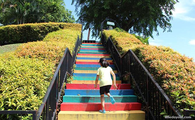 Steps to Mount Faber Peak