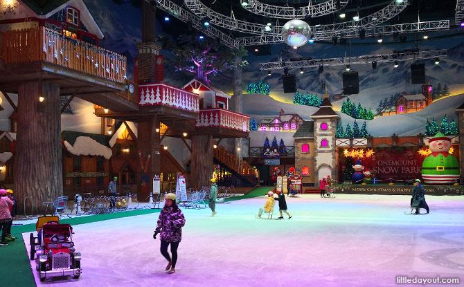 Ice Skating, Sleds and Santa at the Onemount Snow Park, Korea