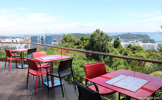 Dining at Mount Faber Peak