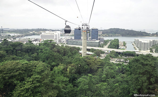 Cable Car from Mount Faber Peak to Sentosa