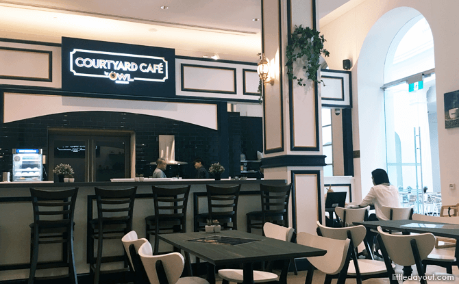 Dining area at Courtyard Cafe