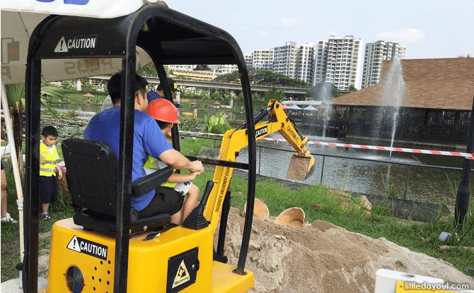 Excavator at Diggersite at ORTO, Yishun, Singapore