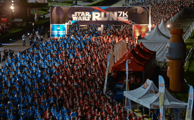 Scenes from the Star Wars Run 2015 at Buenos Aires.